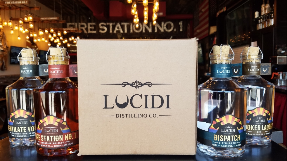 Lucidi Distilling Spirits Four pack